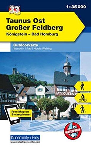 9783259009840: KuF Deutschland Outdoorkarte 33 Taunus Ost, Großer Feldberg 1 : 35.000: Königstein - Bad Homburg