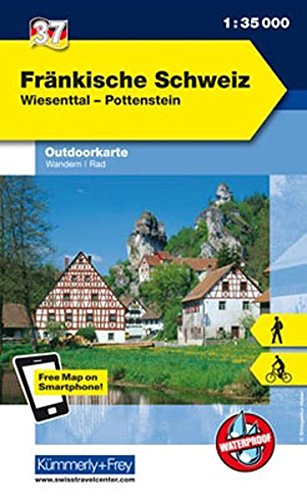 9783259009901: KuF Deutschland Outdoorkarte 37 Fränkische Schweiz 1 : 35.000: Wiesenttal, Pottenstein. Wanderwege, Radwanderwege, Nordic Walking