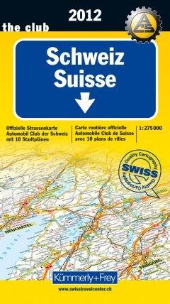 9783259010082: KuF Schweiz ACS 2012 1:275.000: Offizielle Karte des ACS mit 10 Stadtplänen