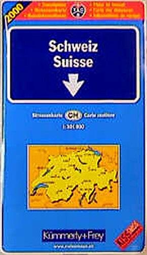9783259010136: Switzerland Map: T.C.S.Map   1: 301, 000 (European