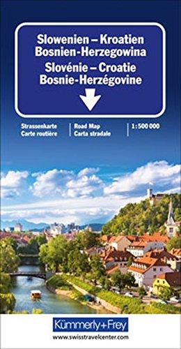 9783259011119: Slowenien / Kroatien / Bosnien-Herzegowina 1 : 500 000. Straßenkarte: Sehenswürdigkeiten, Reiseinformationen, Distanzentabelle, Index (Carte Routière)