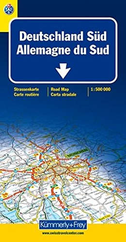 9783259011225: Deutschland Sud: Strassenkarte / Germany South: Road Map / Allemagne Sud: Carte Routiere / Germania Sud: Carte Stradale (1:500 000) (German, French, English, Dutch and Italian Edition)