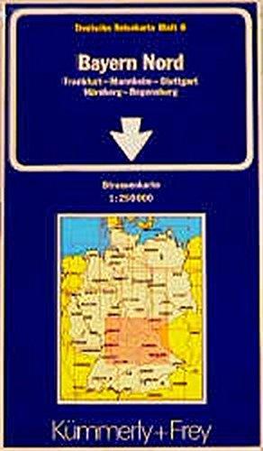 9783259012062: Bayern: North (Regional Maps - Germany)