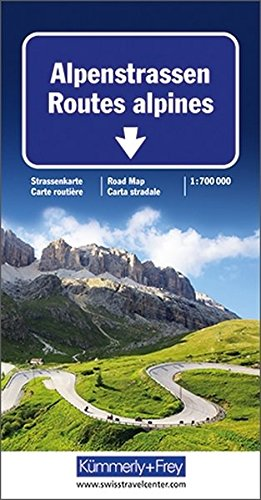 9783259013069: Alpine Roads: KF.005 (International Road Map)