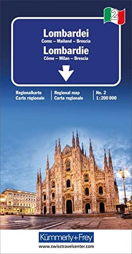 9783259013823: Lombardie (avec plans de Côme, Milan, Brescia) - Carte régionale Italie (échelle : 1/200 000)
