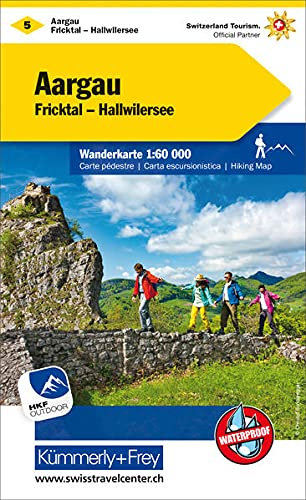 KuF Schweiz Wanderkarte 5 Aargau 1 : Hallwag Kümmerly+Frey