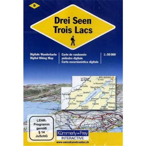 9783259071021: KuF Schweiz Digitale Wanderkarte 09 Drei Seen 1 : 50 000 [import allemand]