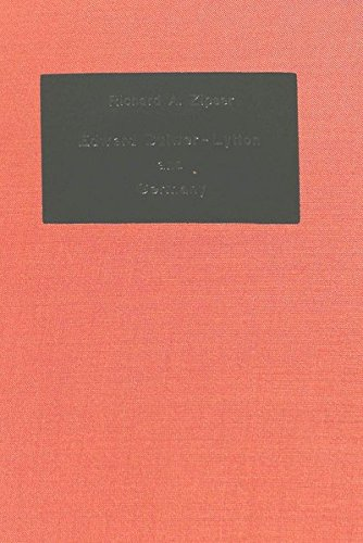 Edward Bulwer-Lytton and Germany: ZIPSER RICHARD A.