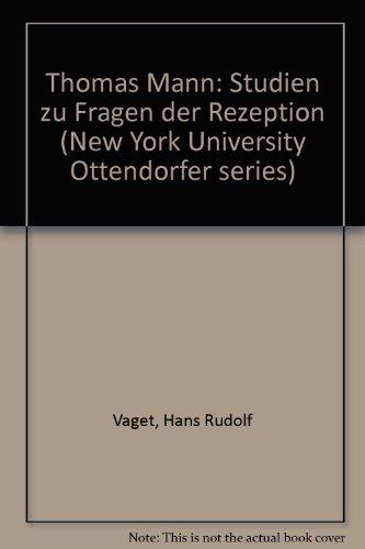 9783261015211: Thomas Mann (New York University Ottendorfer Series) (German Edition)