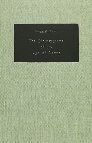 9783261018571: The Bildungsdrama of the Age of Goethe (German Studies in America)