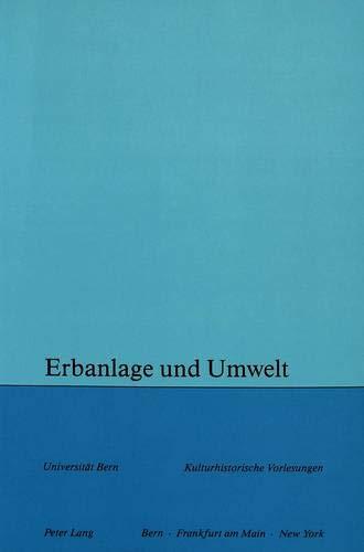 Erbanlage Und Umwelt (Paperback)