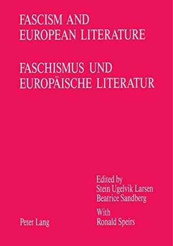 9783261043795: Fascism and European Literature / Faschismus und europäische Literatur (English and German Edition)