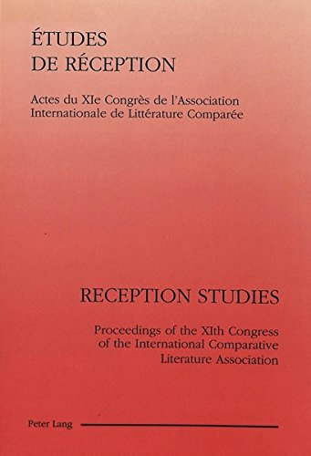 Etudes de rà ception Reception Studies (Proceedings