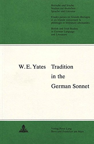 Tradition in the German Sonnet: Yates, W. E.