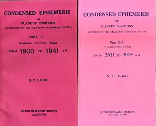 9783278585448: Lahiri Ephemeris Complete Condensed Set 1941 to 2010