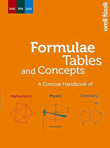 9783280040843: Formulae, Tables and Concepts: A Concise Handbook of Mathematics - Physics - Chemistry