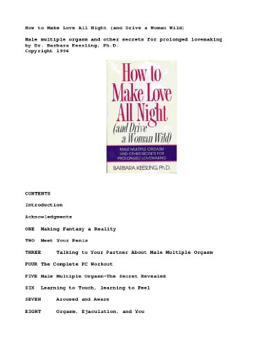 9783285001009: How to Make Love All Night (And Drive a Woman Wild)