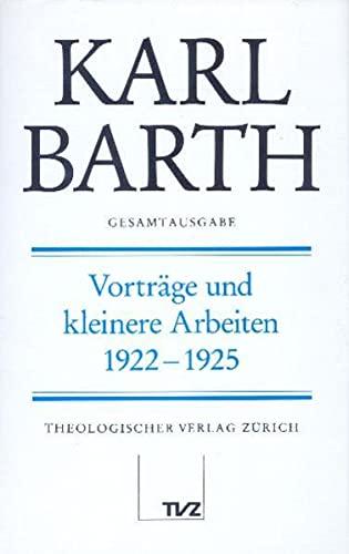 Vorträge und kleinere Arbeiten 1922 - 1925: Holger Finze