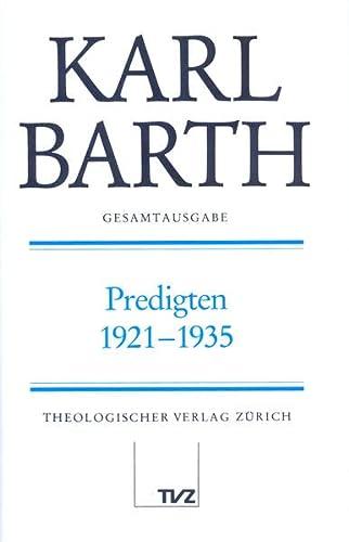 Predigten 1921-1935: Karl Barth