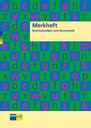 9783292003614: Merkheft Rechtschreiben und Grammatik: Schülerheft