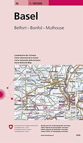 Swisstopo 1 : 100 000 Basel: Belfort - Bonfol - Mulhouse