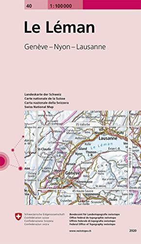 9783302000404: Carte routière : Le Léman