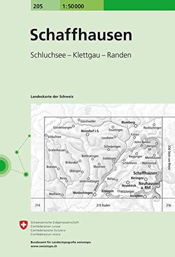 Swisstopo 1 : 50 000 Schaffhausen