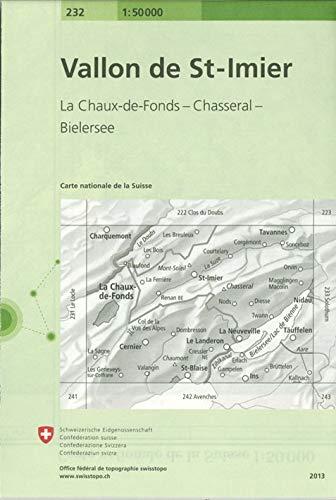 9783302002323: Carte routière : Vallon de Saint-Imier