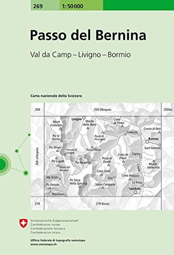 Swisstopo 1 : 50 000 Passo del Bernina