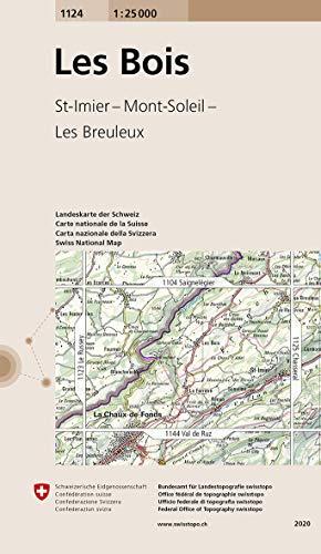 Swisstopo 1 : 25 000 Les Bois