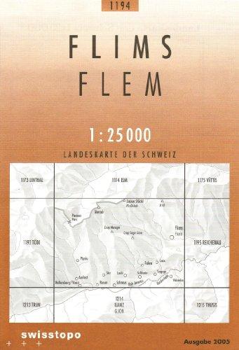 Swisstopo 1 : 25 000 Flims