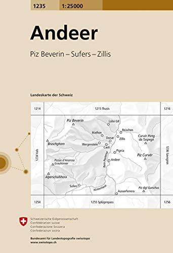 Swisstopo 1 : 25 000 Andeer
