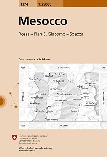 9783302012759: Swisstopo 1 : 25 000 Campodolcino: Madésimo - Pizzo Stella - Pizz Gallagium