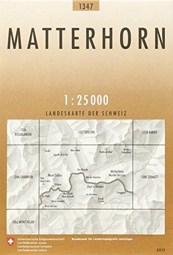 9783302013473: Matterhorn 1:25000 (Landeskarte Der Schweiz)