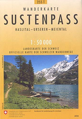 9783302302553: Sustenpass 1:50,000 Wanderkarte (Sustenpass Hiking Map), No. 255T