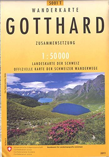 Swisstopo 1 : 50 000 Gotthard Wanderkarte