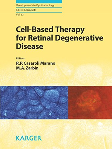 9783318025842: Cell-Based Therapy for Retinal Degenerative Disease (Developments in Ophthalmology)