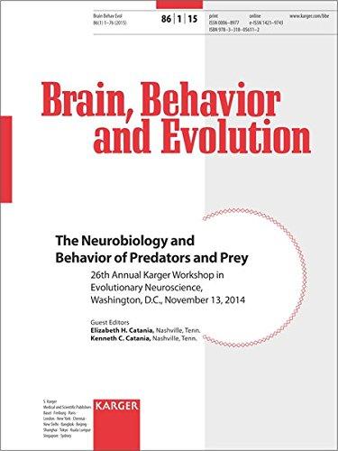 9783318056112: The Neurobiology and Behavior of Predators and Prey: 26th Annual Karger Workshop in Evolutionary Neuroscience, Washington, D.C., November 2014