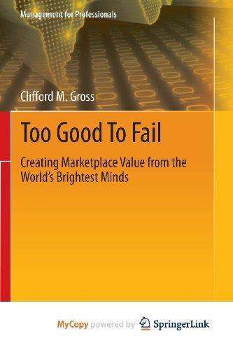 9783319002828: Too Good To Fail
