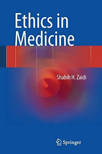 9783319010434: Ethics in Medicine