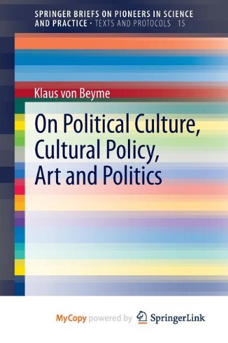 9783319015606: On Political Culture, Cultural Policy, Art and Politics