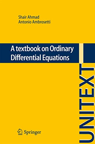 9783319021287: A textbook on Ordinary Differential Equations (UNITEXT)