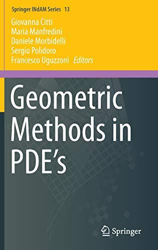 9783319026657: Geometric Methods in Pde?s