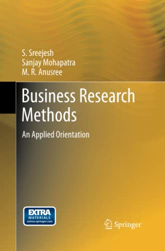 9783319032764: Business Research Methods: An Applied Orientation