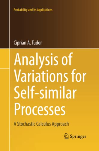 9783319033686: Analysis of Variations for Self-similar Processes: A Stochastic Calculus Approach