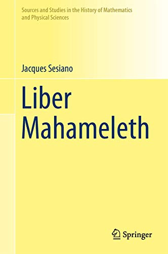 Liber Mahameleth (Hardcover): Jacques Sesiano