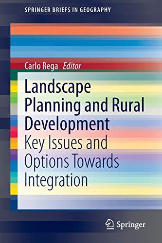 Landscape Planning and Rural Development: Carlo Rega