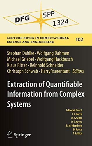 Extraction of Quantifiable Information from Complex Systems: Stephan Dahlke