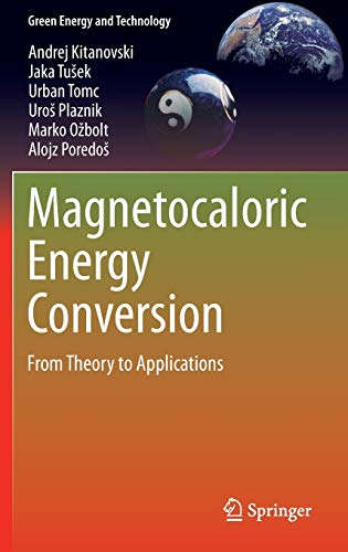 Magnetocaloric Energy Conversion: From Theory to Applications (Hardback): Andrej Kitanovski, Jaka ...
