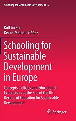 Schooling for Sustainable Development in Europe: Rolf Jucker
